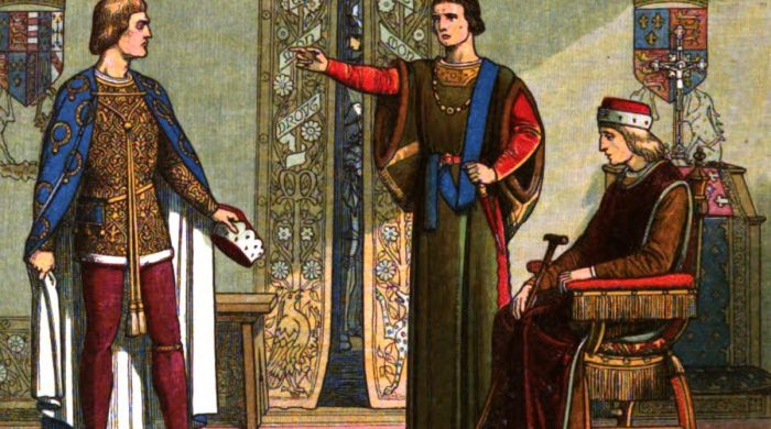 A_Chronicle_of_England_-_Page_400_-_Henry_VI_and_the_Dukes_of_York_and_Somerset-700x390