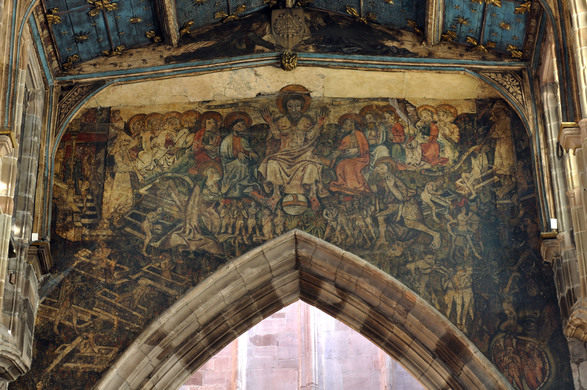 The Doom Painting, Holy Trinity Church, Coventry, England, UK